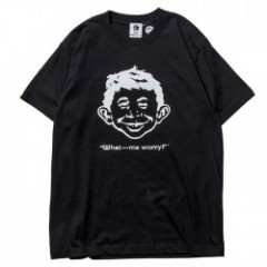 PAWN Tシャツ MAD MAGAZINE ALFRED E. NEUMAN 黒 No.7612